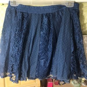 Navy Blue Lace Aeropostale Skirt